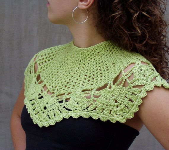 Tender Shoots Lacy Fashion hand crocheted wedding by HEraMade, $65.00