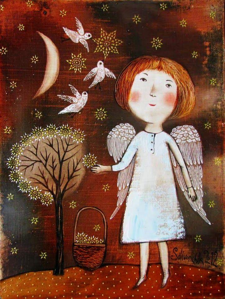 Pinzellades al món: Àngels: il·lustracions d'Anna Silivonchik / Ángeles: ilustraciones de Anna Silivonchik / Angels: illustrations of Anna Silivonchik