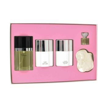 Oscar By Oscar De La Renta for Women 5pcs Gift Set by Oscar de la Renta. Save 23 Off!. $49.95. Packaging for this product may vary from that shown in the image above. All our fragrances are 100% originals by their original designers. We do not sell any knockoffs or immitations.. Oscar for Women Gift Set ( Eau De Toilette Spray 1.6 Oz / 50 Ml + Mini 0.13 Oz / 4 Ml + Body Bath 1.6 Oz / 50 Ml + Body Lotion 1.6 Oz /50 Ml + Perfume Soap 3.5 Oz ). Gift Set ( Eau De Toilette Spray 1.6...