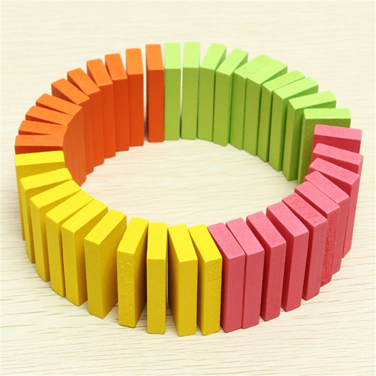 Newest !! Best Price Hot Sale 100PCS Early Intelligence Education Blocks Authentic Standard Wooden Children Domino Building Toys