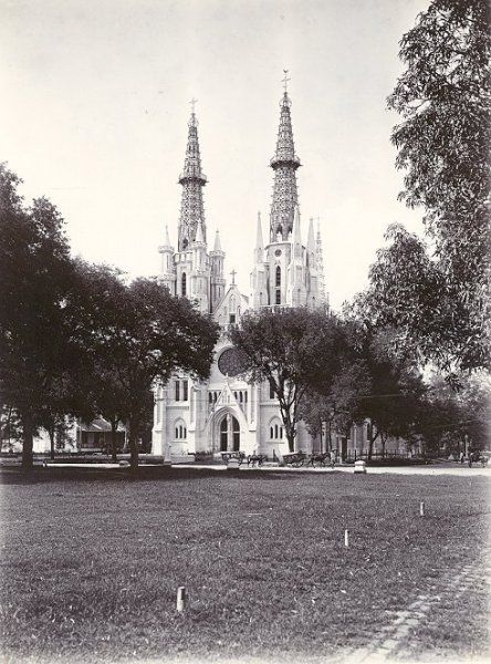 Roomsche Katholieke Kerk (Kathedraal) Batavia 1900-1920.