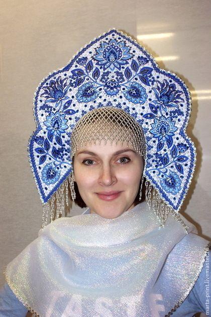 Кокошник Синий цветок - кокошник,русский стиль,русские узоры,русский костюм