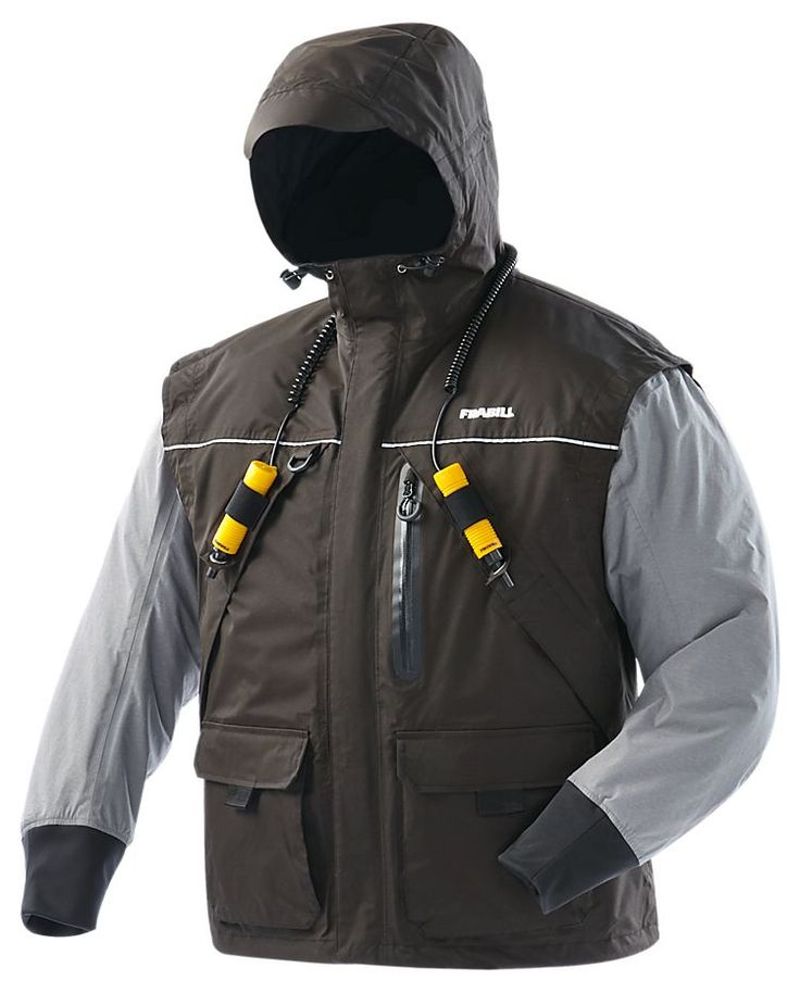 Frabill i2 series jacket for men gray 3xl shops the for Frabill ice fishing suit