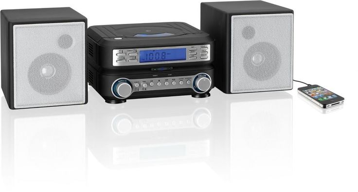 Compact CD Player Home Stereo System. MP3 Radio Speakers Remote iPOD iPhone FM #GPX
