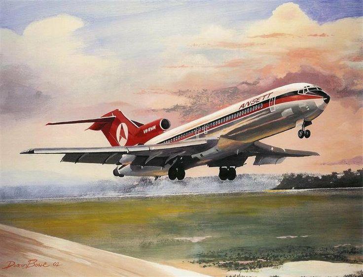 Ansett Boeing 727-200 painting
