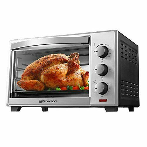 Details About Emerson Radio Corp Er101003 6 Slice Toaster Oven In 2020 6 Slice Toaster Toaster Countertop Toaster Oven