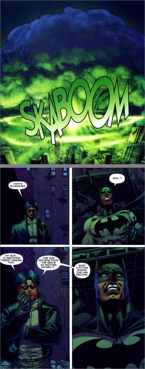Jason Todd and Batman, about Dick Grayson<< omg Batman :'( omg Nightwing better not have been there