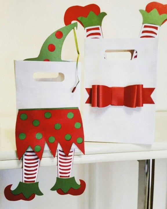 Busta regalo elfo natalizio