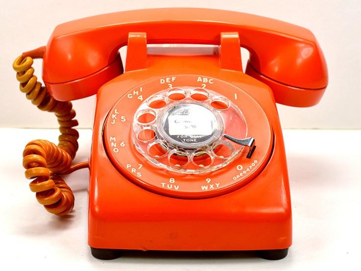 vintage orange rotary phone from the folks at the american telephone store vintage orange. Black Bedroom Furniture Sets. Home Design Ideas