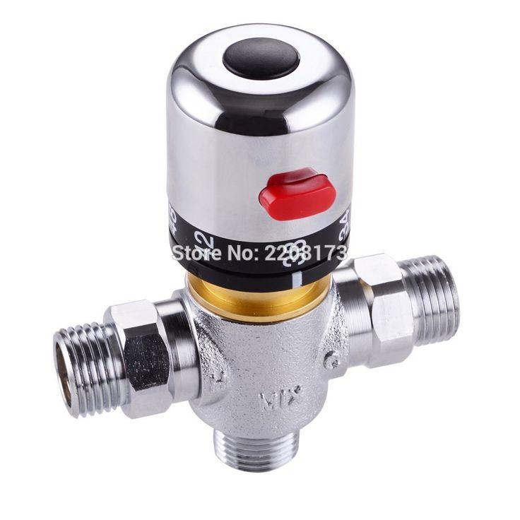 Твердая Латунь 3 способ Theremostatic Смесительный Клапан 1/2 IPS Нр Солнечный Водонагреватель Клапан Отрегулировать Клапан Контроля Температуры