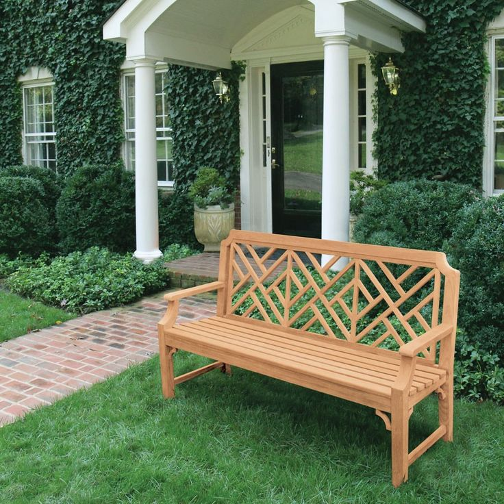 Teak Benches - Chippendale 5 ft. Bench | Country Casual ...