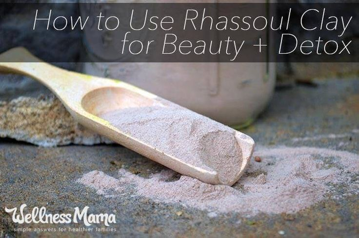 Rhassoul clay is excellent for beauty and detox as a mineral rich clay high in magnesium, silica and potassium. Great for hair, skin, and nails! #naturalbeauty #detox
