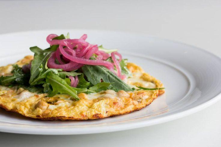 Frittata with smoked provolone, chickpeas & cauliflower caponata #Oakville #Restaurant #Food #Italian #Cucina