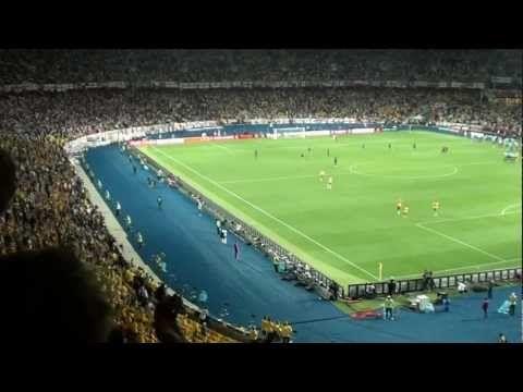 Swedish fans singing their national anthem, Sweden-England 15th June 2012 - YouTube
