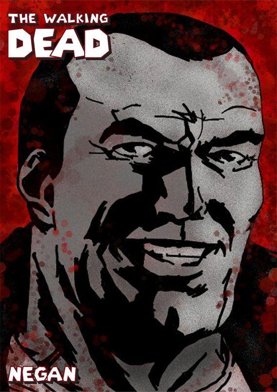 The Walking Dead - Negan Comic Print