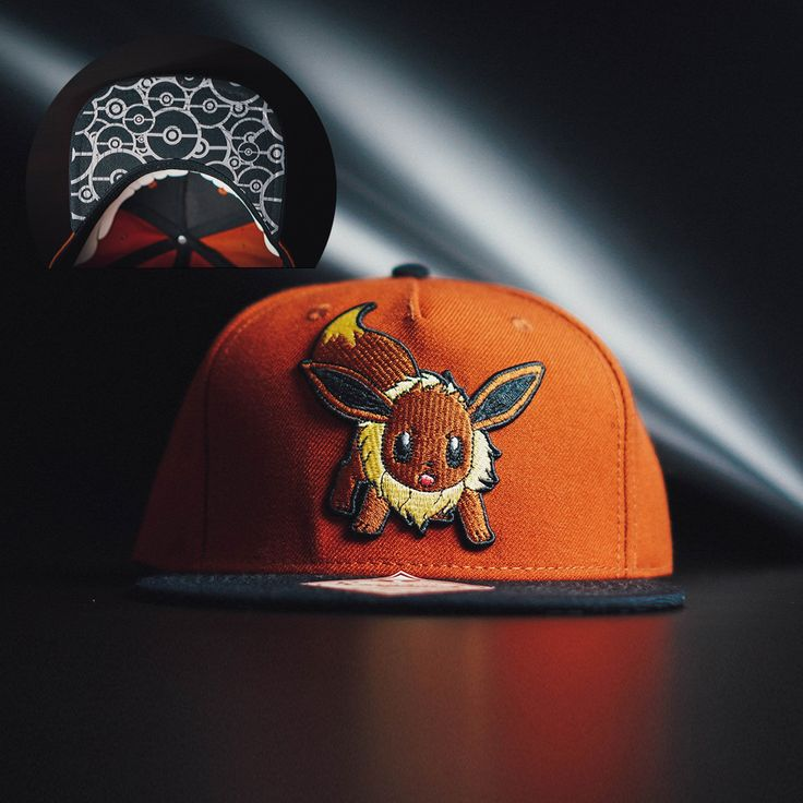 awesome Snapback Baseball Cap Hat Eevee Pokemons pokemon Go