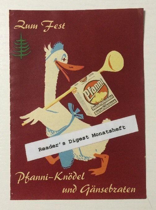 Werbung ca A5: Pfanni Knödel 1961   (0512142)