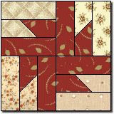 Buzz Saw free quilt block pattern -- uses paper piecing