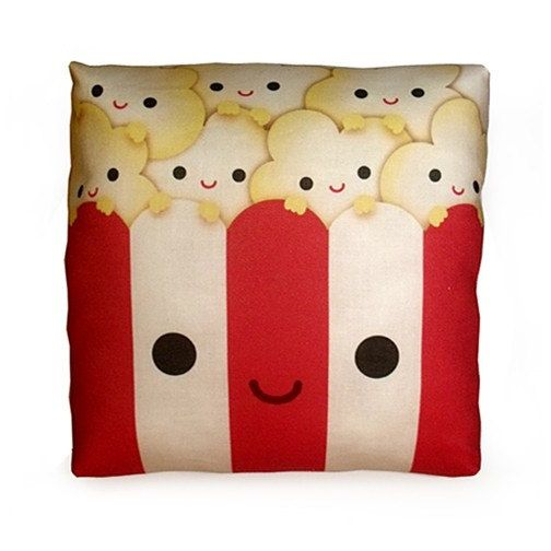 Mini Pillow  Yummy Popcorn by mymimi on Etsy, $18.00 How cool would this be with individual popcorn!