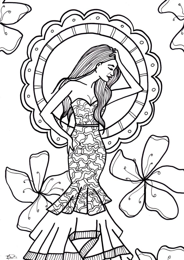 Free printable. Coloring page for adults. Kleurplaat voor volwassenen. Gratis print.
