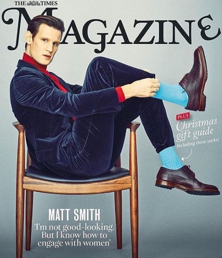 "Matt Smith featured in The Times magazine. I don't think he's stereotypically ""good looking"", but I think he's adorable, charming, and extremely sexy! :D"