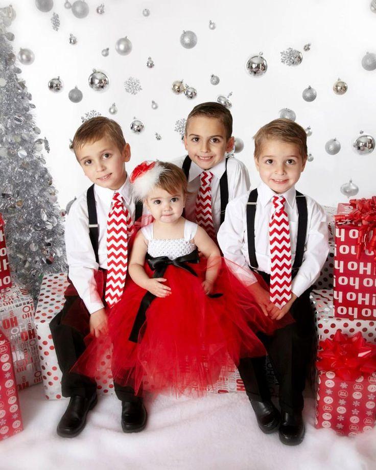 Santa Christmas Tutu Dress Red Black and White by PoshPixieTutu