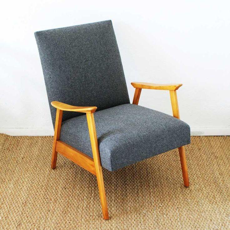 les 53 meilleures images propos de mobilier ann e 50 sur pinterest chaises en bois design. Black Bedroom Furniture Sets. Home Design Ideas