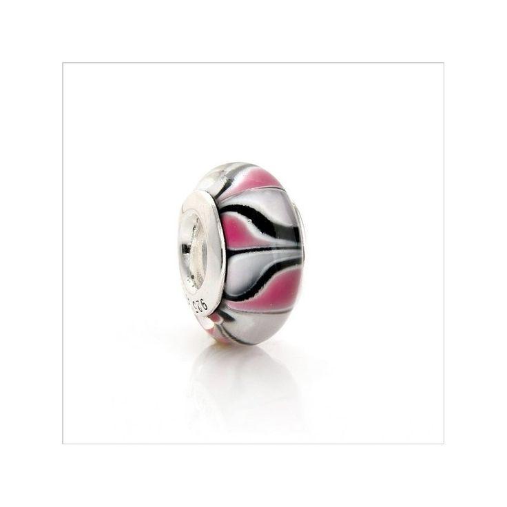 """Бусина Пандора """"Бело-красные сердечки"""" - лучший подарок для девушки"""