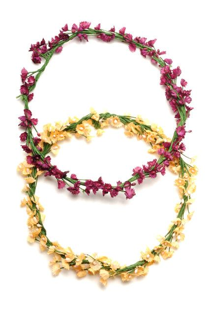 ALLISON  Flower Girl Halo Headband by Untamed Petals
