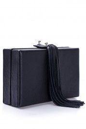 Mihaela Glavan Black leather clutch