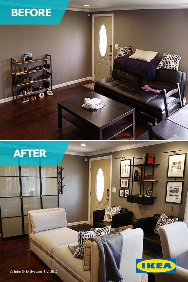The Ikea Home Tour Squad Helps A Young Couple Achieve Their Dream Of A New Life Together They Transform A Living Room Makeover Ikea Home Tour Cheap Home Decor Living room ideas young couples