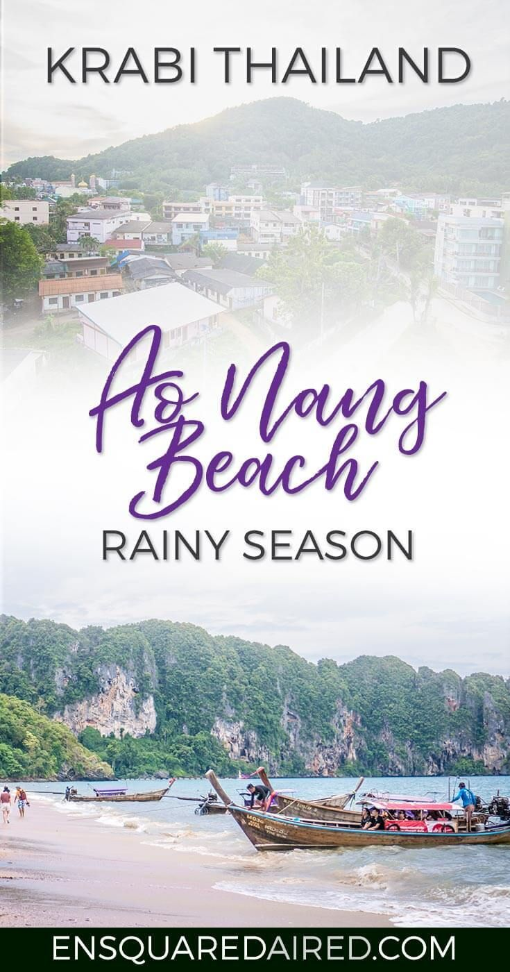 Rainy Days At The Beautiful Ao Nang Beach | Asia travel, thailand honeymoon top 10 itinerary, culture travel, southeast asia travel, thailand food photography, Krabi things to do in, krabi thailand, krabi itinerary, beach travel destinations, beach travel