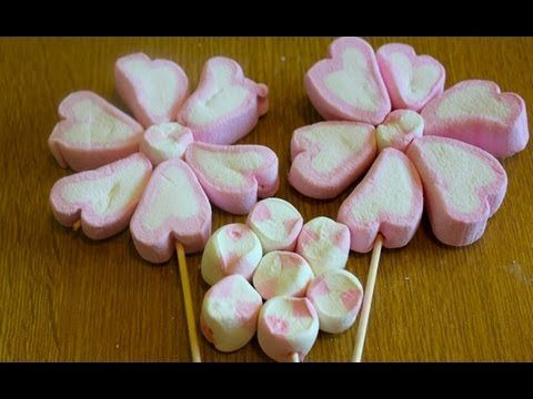 How To Make Marshmallow Flower Cupcakes by CakesStepbyStep - YouTube