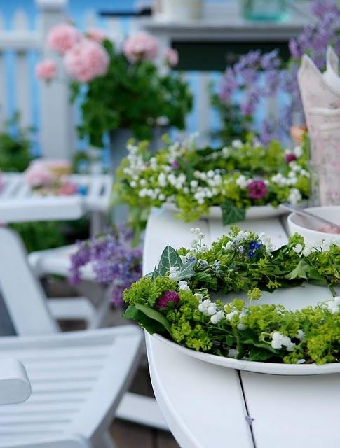 Swedish Mid-summer wreaths