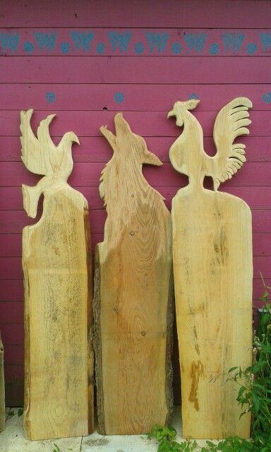 Taube Wolf Hahn Holz Wood Wood Crafts Und Garden Crafts