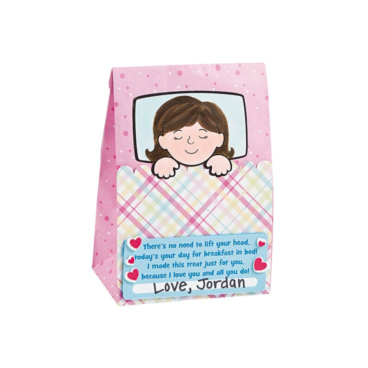 Mother s day breakfast in bed bag craft kit for Kids craft bed