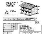 Purple Martin House Plans | Free Martin House Plans