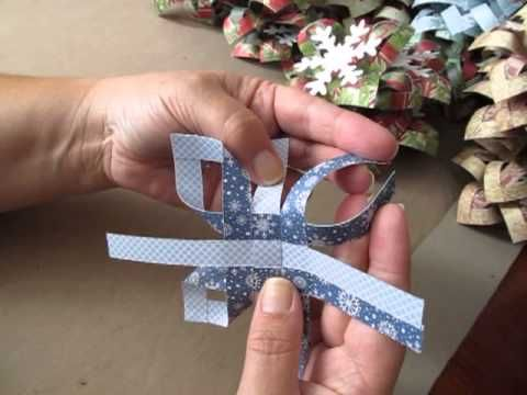3D paper snowflake ornament - YouTube