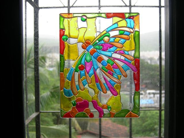 100 best glasspainting images on pinterest painting on for Simple glass painting designs for beginners