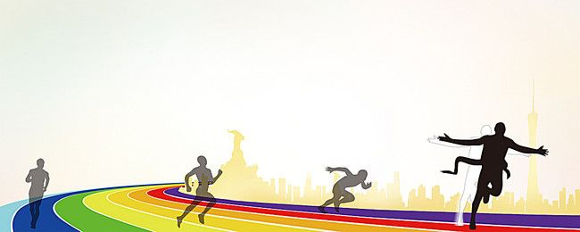Simple Yellow Sports Background In 2020 Running Posters