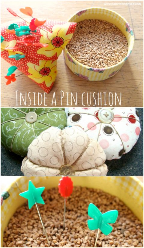 what is inside a pin cushion                                                                                                                                                                                 More