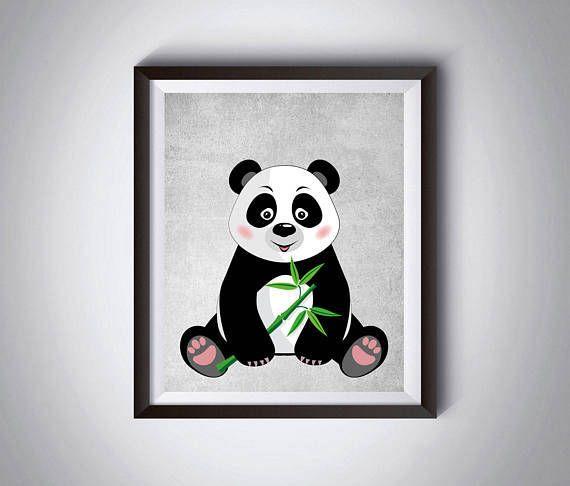 Panda print Nursery decor Playroom decor Large poster #instantdownloadart1
