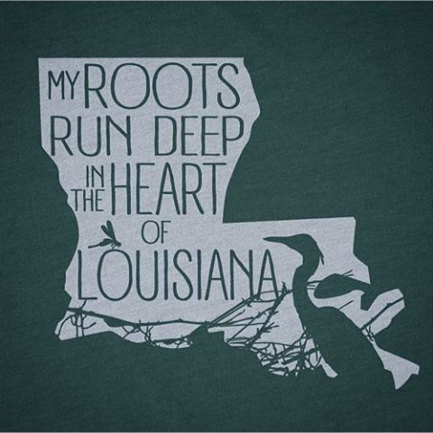 Living in Texas I needed a shirt that that showed my love for my Louisiana roots, I love wearing this shirt! Free Shipping!!! Super soft tees!!!! Happy to customize if you want a different shirt or ink color! Email gustographictees@gmail.com