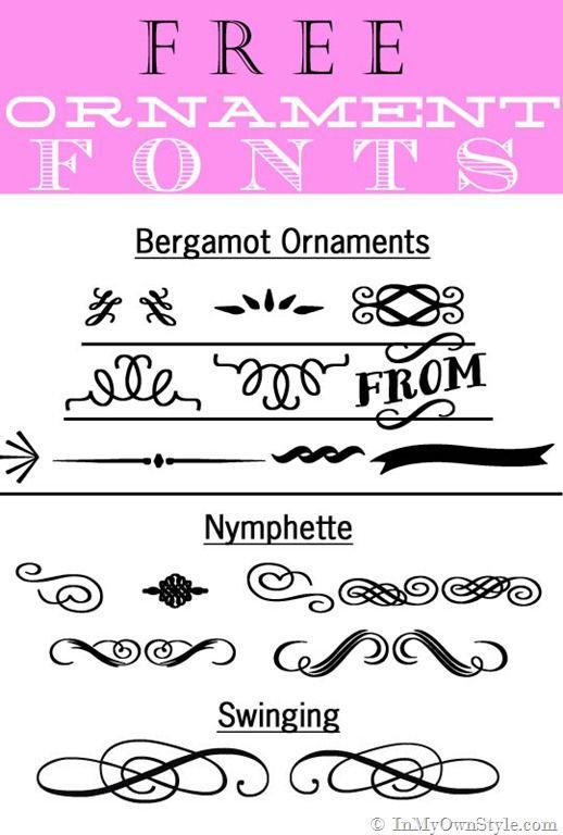 Free Decorative-Ornament-Fonts-: Chalkboards Fonts Free, Chalkboards Letters, Chalkboards Free Printable, Decor Ornaments, Free Fonts, Free Ornaments, Chalkboards Art, Chalkboards Drawings, Ornaments Fonts