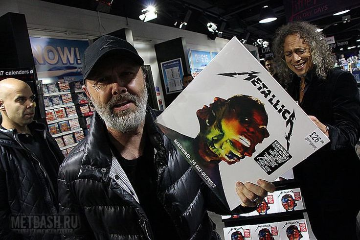Metallica at the presentation of his new album Hardwired ... To Self-Destruct 2016