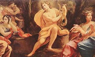 Hermes created a lyre in a cave just after he was born. He then ...