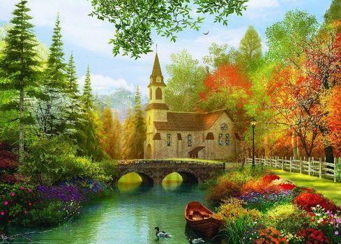 Autumn Church (70 pieces)
