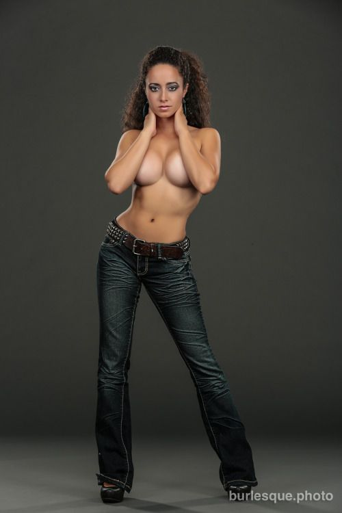 hot topless girls in jeans
