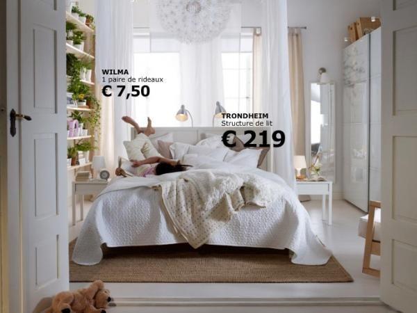 Chambre coucher ikea un int rieur avec un tapis brun for Lit et chambre a coucher
