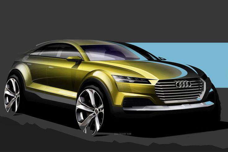 Audi Q4 Concept mikt natuurlijk op BMW X4 en Porsche Macan